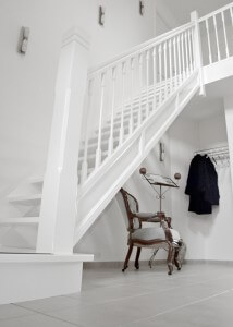 Groningen comfort trappen for Trap hout wit
