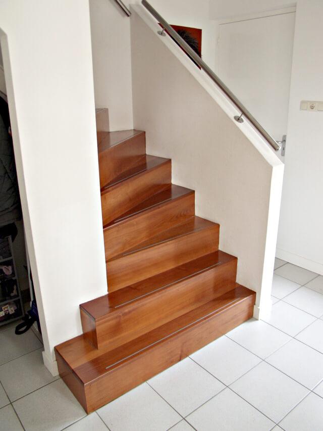 Onderkwart trap productnr 000013 comfort trappen for Trap onderkwart